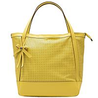 Желтая сумка Ripani Cookie с декором-бантом, фото