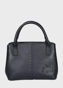 Маленькая сумка Tory Burch McGraw черного цвета, фото