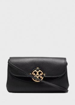 Черная сумка кросс-боди Tory Burch Miller из кожи, фото