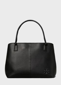 Черная сумка-тоут Tory Burch McGraw из кожи, фото