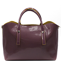 Лаковая сумка Ripani Glassa сливового цвета, фото