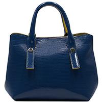 Синяя сумка-шоппер Ripani Glassa из лаковой кожи, фото