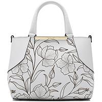Белая сумка Ripani с флористическим узором, фото