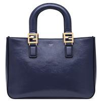 Синяя сумка Fendi  из фактурной кожи, фото