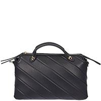 Черная сумка Fendi в диагональную полоску, фото
