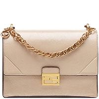 Бежевая сумка Fendi Kan U с винтажным эффектом, фото