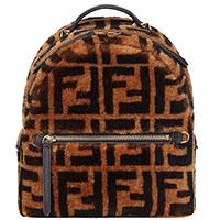 Рюкзак Fendi коричневого цвета из шерсти, фото