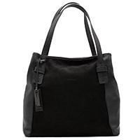 Черная сумка Ripani с вставками из зернистой кожи, фото
