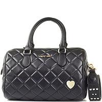 Стеганая сумка боулинг-бэг Twin-Set черного цвета, фото