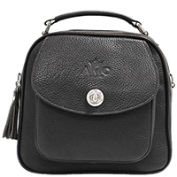 Темно-коричневая сумка Amo Accessori Comfort на молнии, фото
