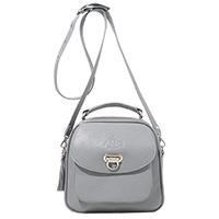 Серая сумка Amo Accessori Comfort с кисточкой, фото
