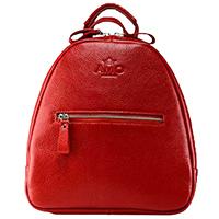 Красный рюкзак Amo Accessori Comfort с карманом на молнии, фото