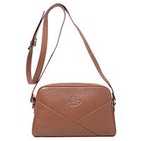 Коричневая сумка Amo Accessori Comfort из зернистой кожи, фото