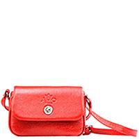 Сумка Amo Accessori Comfort из зернистой кожи красного цвета, фото