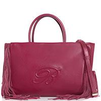 Красная сумка Blumarine Josephine с бахромой, фото
