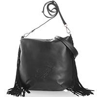 Черная сумка Blumarine Josephine с бахромой, фото