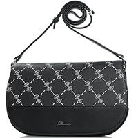 Черная сумка Blumarine B Signature с брендовым принтом, фото
