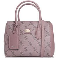 Розовая сумка Blumarine B Signature с декором-принтом, фото