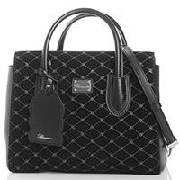 Черная сумка Blumarine Dafne с двумя клапанами, фото