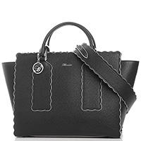 Черная сумка Blumarine Wave на широком ремне, фото