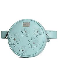 Круглая поясная сумка Blumarine Anne с цветочной аппликацией, фото