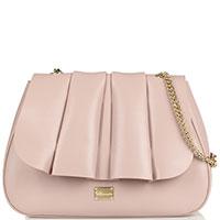 Светло-розовая сумка Blumarine Karen с ручкой-цепочкой, фото