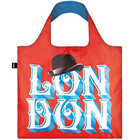 Красная сумка Loqi Alex Trochut с надписью London, фото