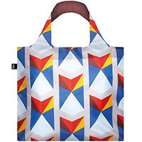 Цветная эко-сумка Loqi Geometric треугольники, фото