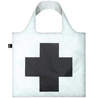Белая сумка для шопинга Loqi Museum Kazimir Malevich Черный крест, фото