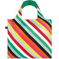 Цветная сумка для покупок Loqi Pop в косую полоску, фото