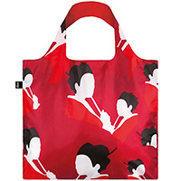Красная складная сумка Loqi Travel Гейши, фото