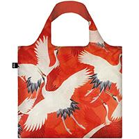 Эко-сумка Loqi Museum Woman's Haori Красные и белые журавли, фото