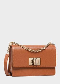 Коричневая сумка Furla 1927 на ремне-цепочке, фото