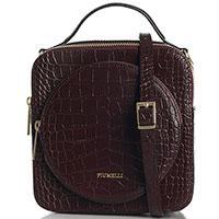 Бордовая сумка Piumelli Bangkok квадратной формы, фото