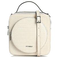 Маленькая бежевая сумка Piumelli Bangkok с тиснением кроко, фото
