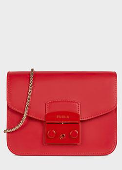 Красная сумка Furla Metropolis со съемным ремнем, фото