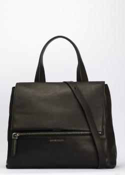 Черная сумка Givenchy Pandora Pure с золотистым логотипом, фото