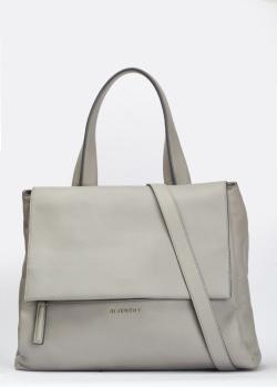 Серая сумка Givenchy Pandora Pure с клапаном, фото