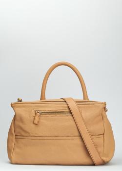 Бежевая сумка Givenchy Pandora из зернистой кожи, фото