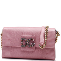 Розовая сумка Dolce&Gabbana Millennials с декором-камнями, фото