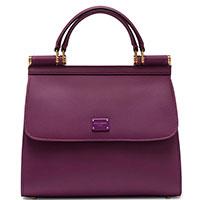 Женская сумка-тоут Dolce&Gabbana Sicily цвета фуксия, фото