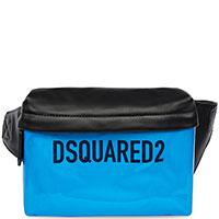 Двухцветная поясная сумка Dsquared2 с частичной лакировкой, фото