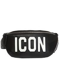 Черная поясная сумка Dsquared2 Icon с аппликацией, фото