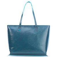 Женская сумка Piquadro Bl Square с отделением для ноутбука в синем цвете, фото