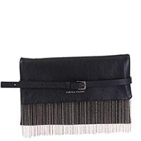 Черная сумка Fabiana Filippi с декором-бахромой, фото