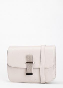 Серая сумка Fabiana Filippi Melania с декором-стразами, фото