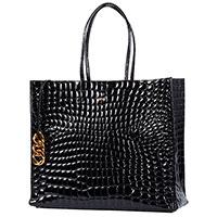 Черная сумка N21 из фактурной кожи, фото