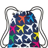 Рюкзак для путешествий Loqi Airport с цветными самолетами, фото