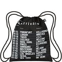 Черный рюкзак Loqi Airport с боковым карманом на молнии, фото