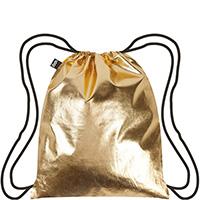 Рюкзак влагозащищенный Loqi Metallic золотистого цвета, фото